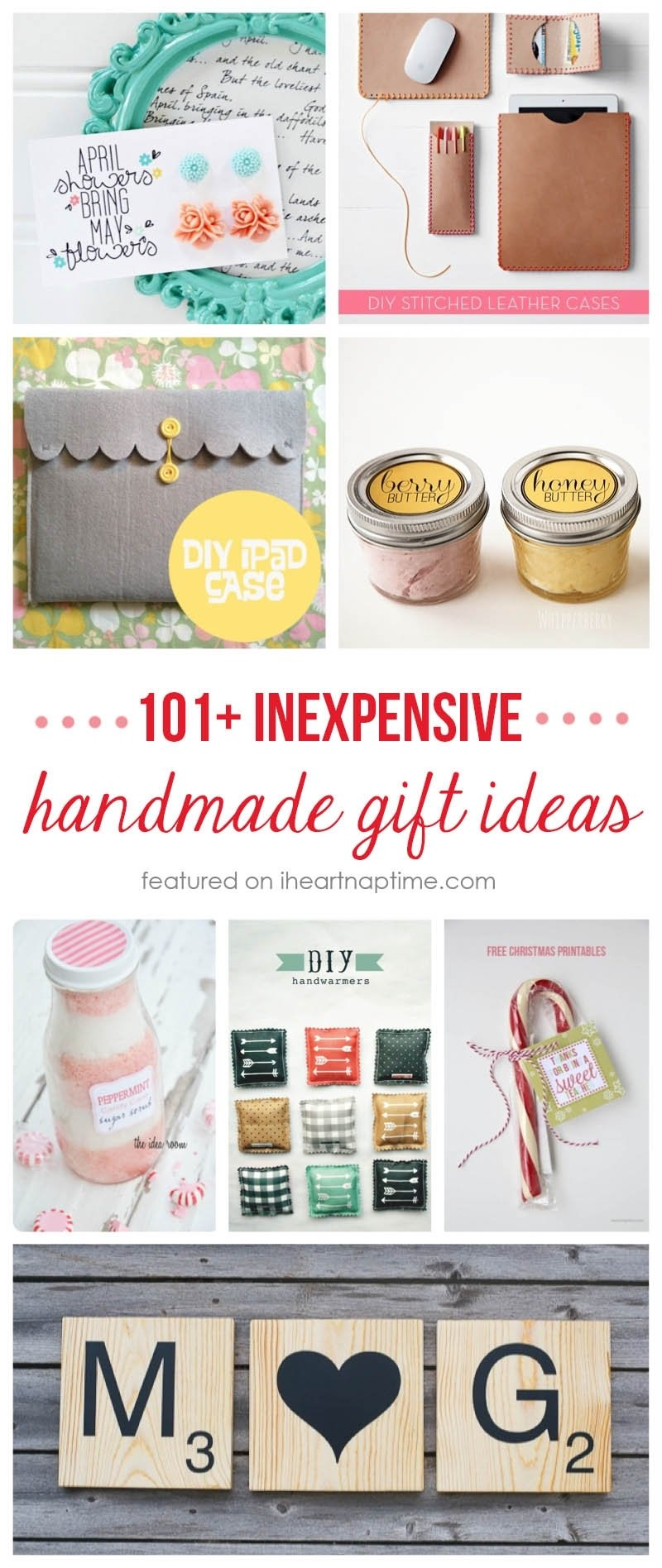 10 Great Great Homemade Christmas Gift Ideas 101 inexpensive handmade christmas gifts i heart nap time 13 2020