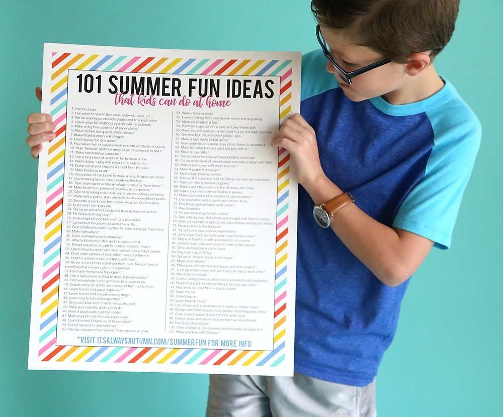 10 Awesome Fun Ideas To Do At Home 101 summer fun ideas that kids can do at home its always autumn 2020