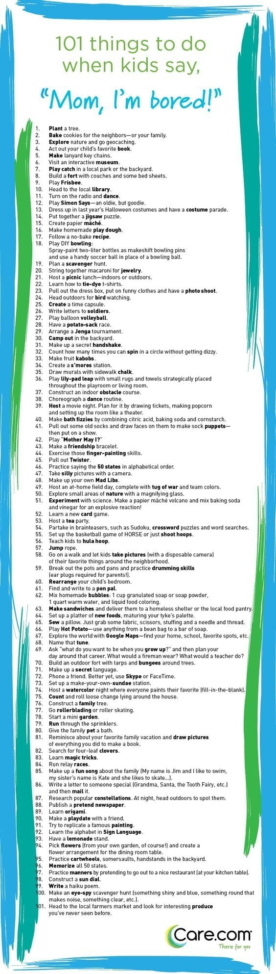10 Elegant Ideas To Do When Bored 101 things to do when kids say im bored care 2020