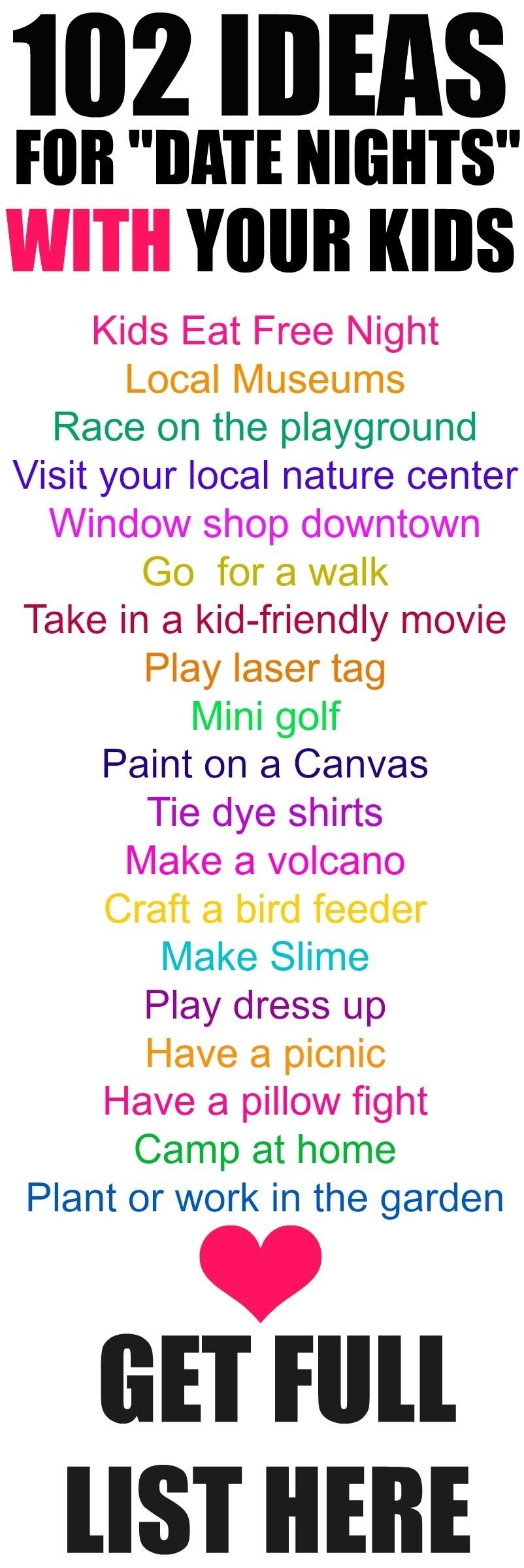 10 Awesome Fun Friday Night Date Ideas 102 date night ideas for your kids 102 curated ideas to enjoy 1 2020