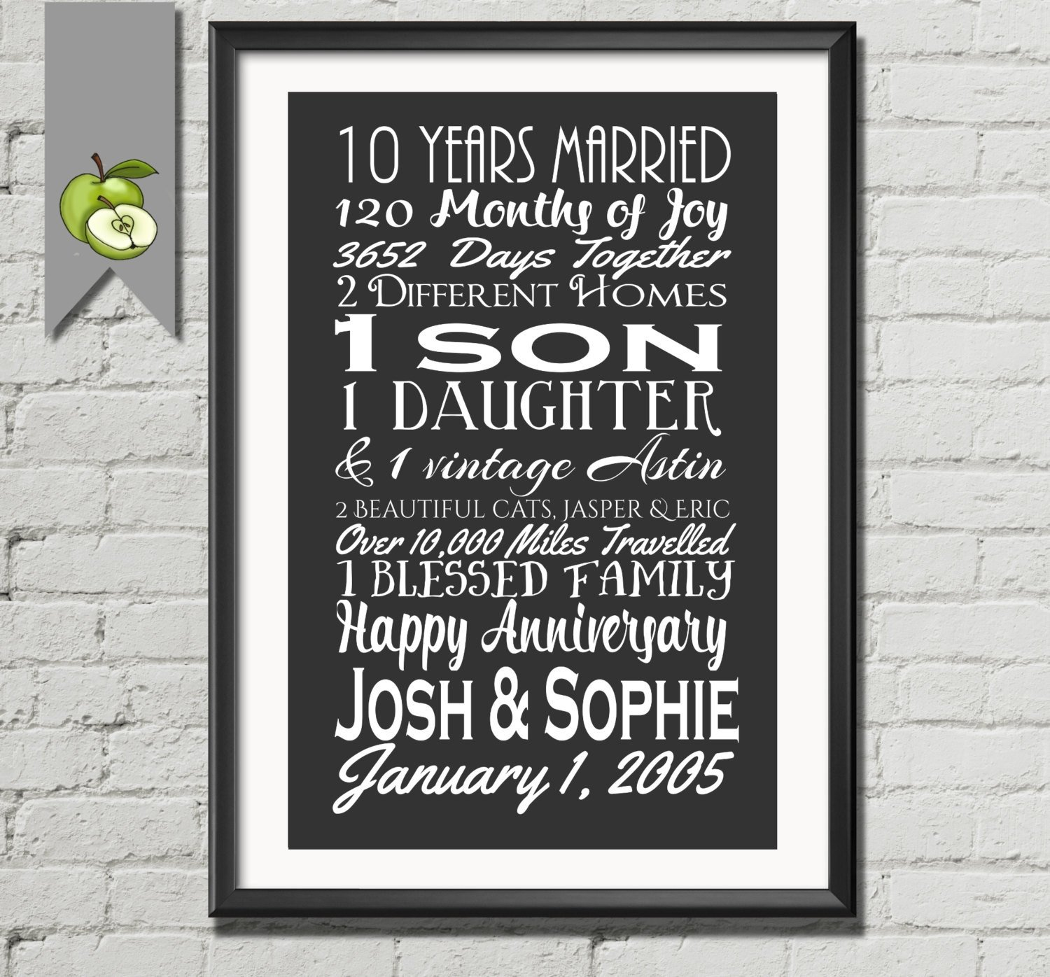 10 Fabulous 10Th Wedding Anniversary Gift Ideas For Husband 10th anniversary gift tenth anniversary gift wife husband 10th 2020
