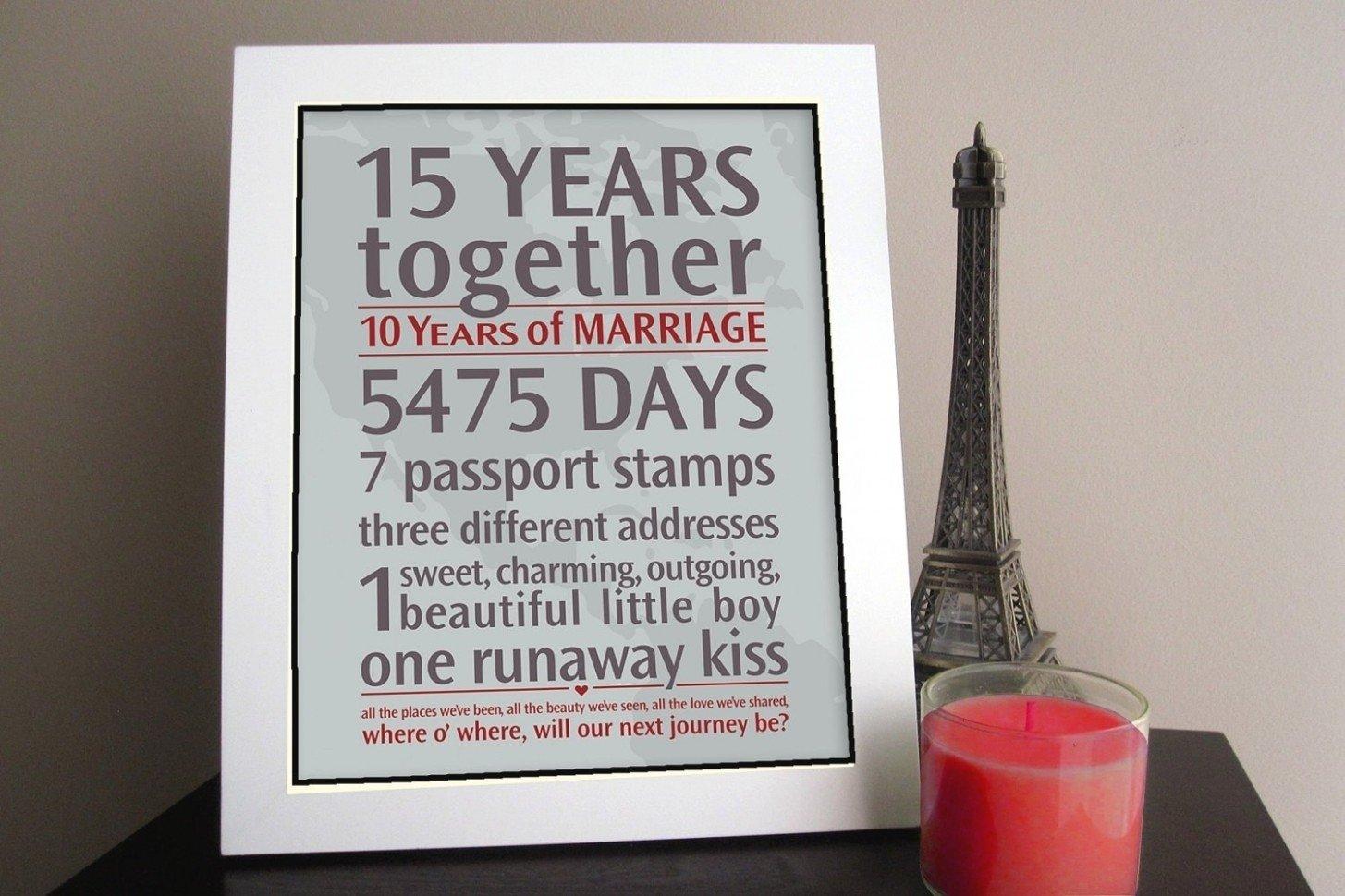 10 Cute 15Th Wedding Anniversary Gift Ideas 10th wedding anniversary gift 10 creative wedding ideas