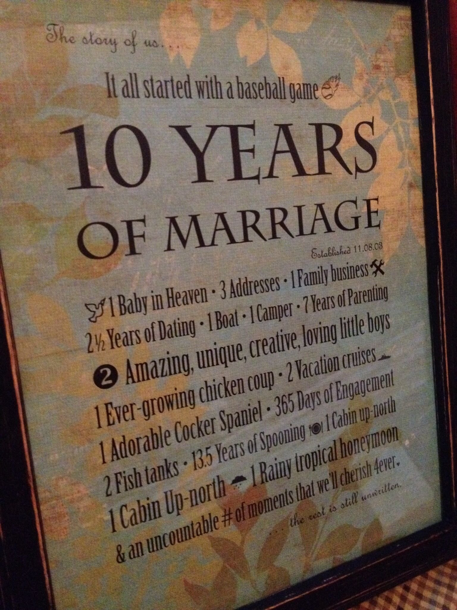 10 Famous 10 Year Anniversary Trip Ideas 10th wedding anniversary present that i made for my big sister 2 2020