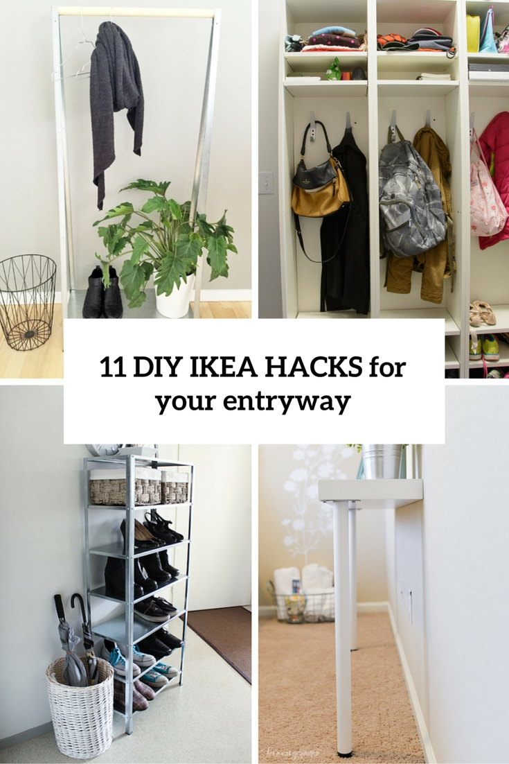 10 Spectacular Shoe Storage Ideas For Entryway 11 cool and clever diy ikea hacks for entryways shelterness 2021