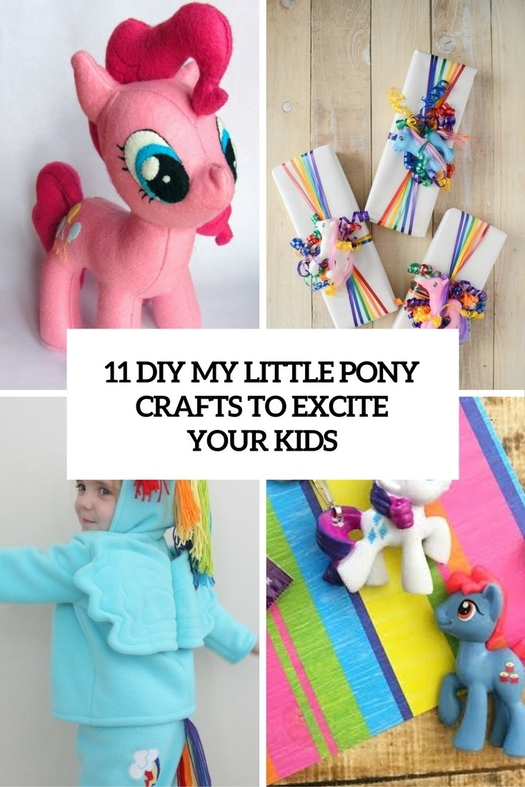 11 diy my little pony crafts to excite your kids - shelterness
