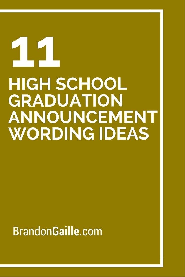 10 Unique High School Graduation Announcement Ideas 11 high school graduation announcement wording ideas high school