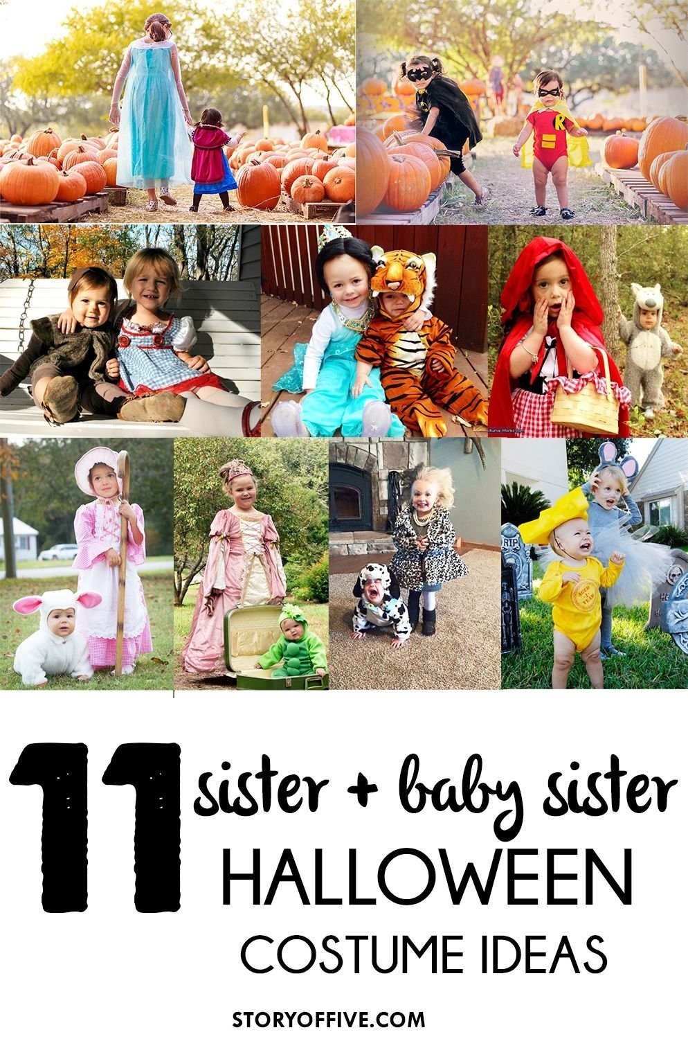 10 Most Popular Halloween Costume Ideas For Sisters 11 sister baby sister halloween costume ideas ghosts giveaway 2020