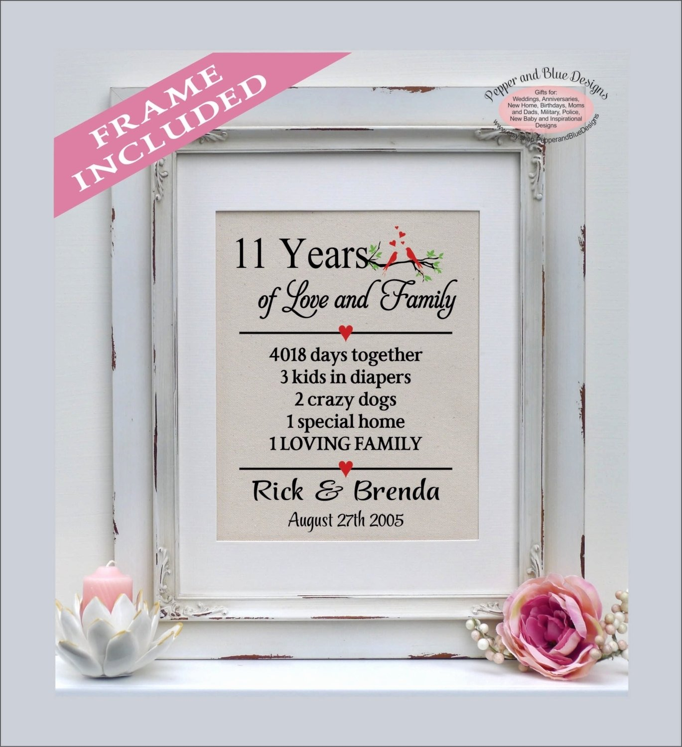 11th year wedding anniversary gift unique 11th anniversary ts 11