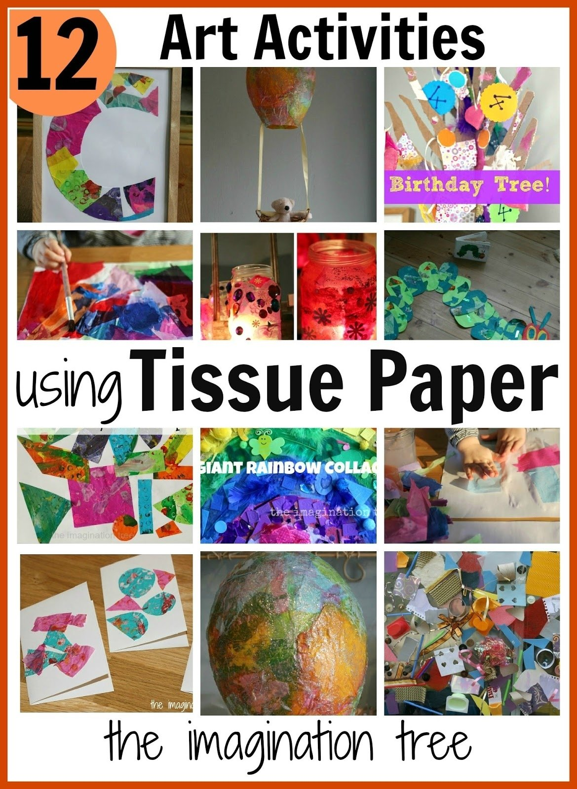 10 Attractive Art Project Ideas For Kids 12 art activities using tissue paper the imagination tree 2021