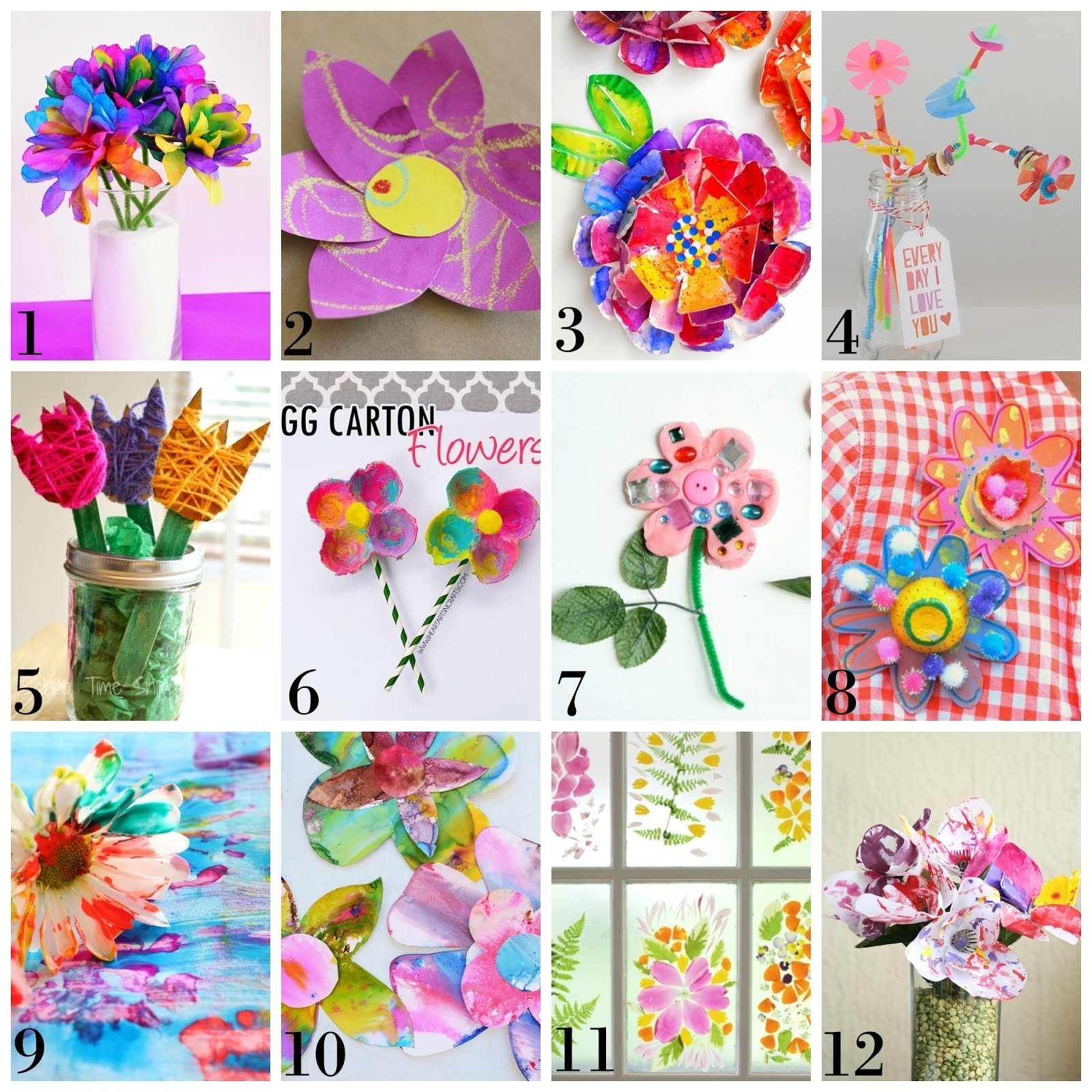 10 Fashionable Spring Arts And Crafts Ideas 12 beautiful spring flower process art ideas for kids 2020