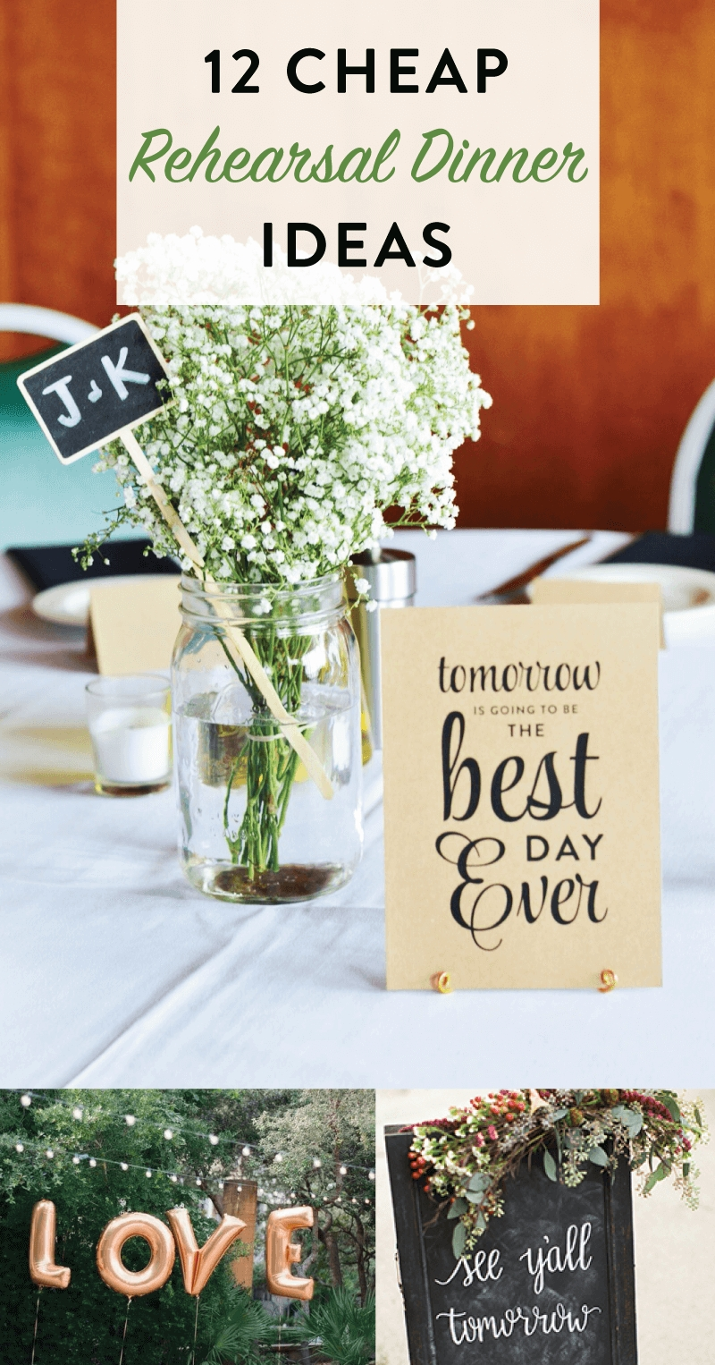 10 Unique Rehearsal Dinner Ideas On A Budget 12 cheap rehearsal dinner ideas for the modern bride on love the day 1