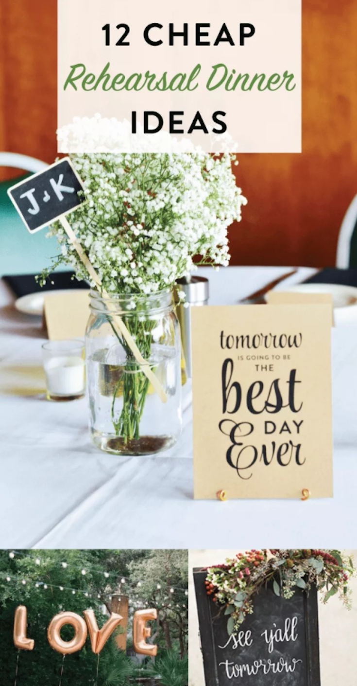 10 Best Wedding Rehearsal Dinner Ideas Decorations 12 cheap rehearsal dinner ideas idea plans rehearsal dinners and 2020