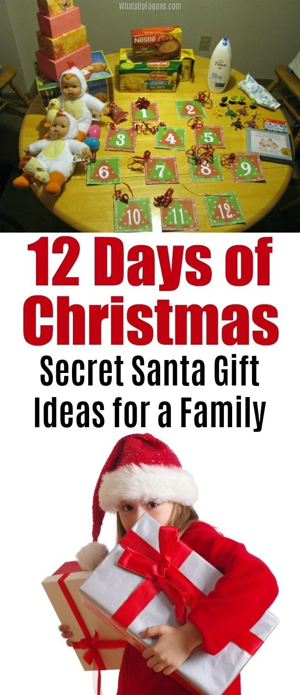 10 Unique Secret Santa Ideas For Family 12 days of christmas secret santa gift ideas 2 2021