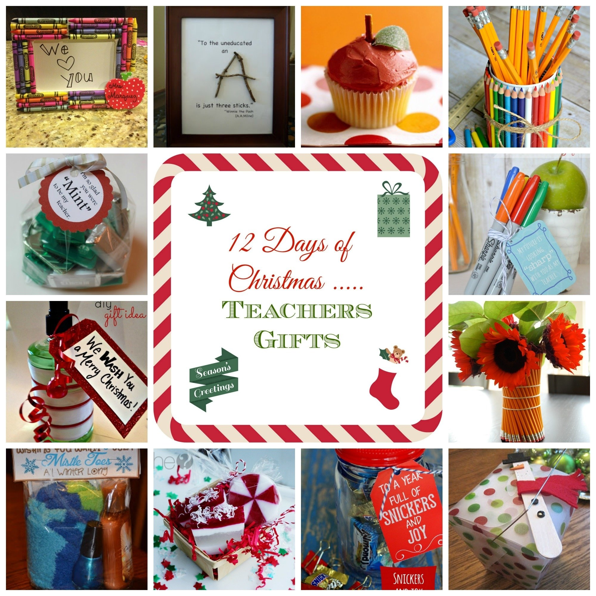 10 Most Popular Teacher Gifts Ideas For Christmas 12 days of christmas teacher gift ideas donnahup 2 2021