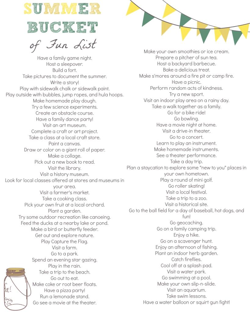 10 Nice Bucket List Ideas For Teenagers 12 ideas for making a summer bucket of fun list fun list summer 4 2020