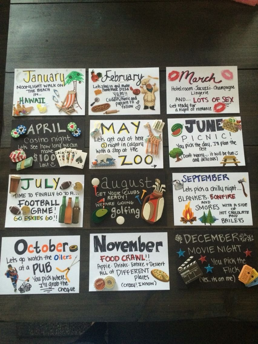 10 Lovely 6 Month Anniversary Date Ideas 12 Months Of Dates Great For Or Birthday