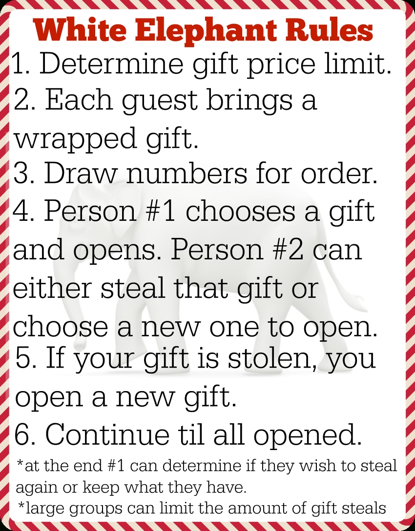 10 Unique White Elephant Gift Exchange Game Ideas 12 white elephant gifts printable white elephant rules the cards 2020
