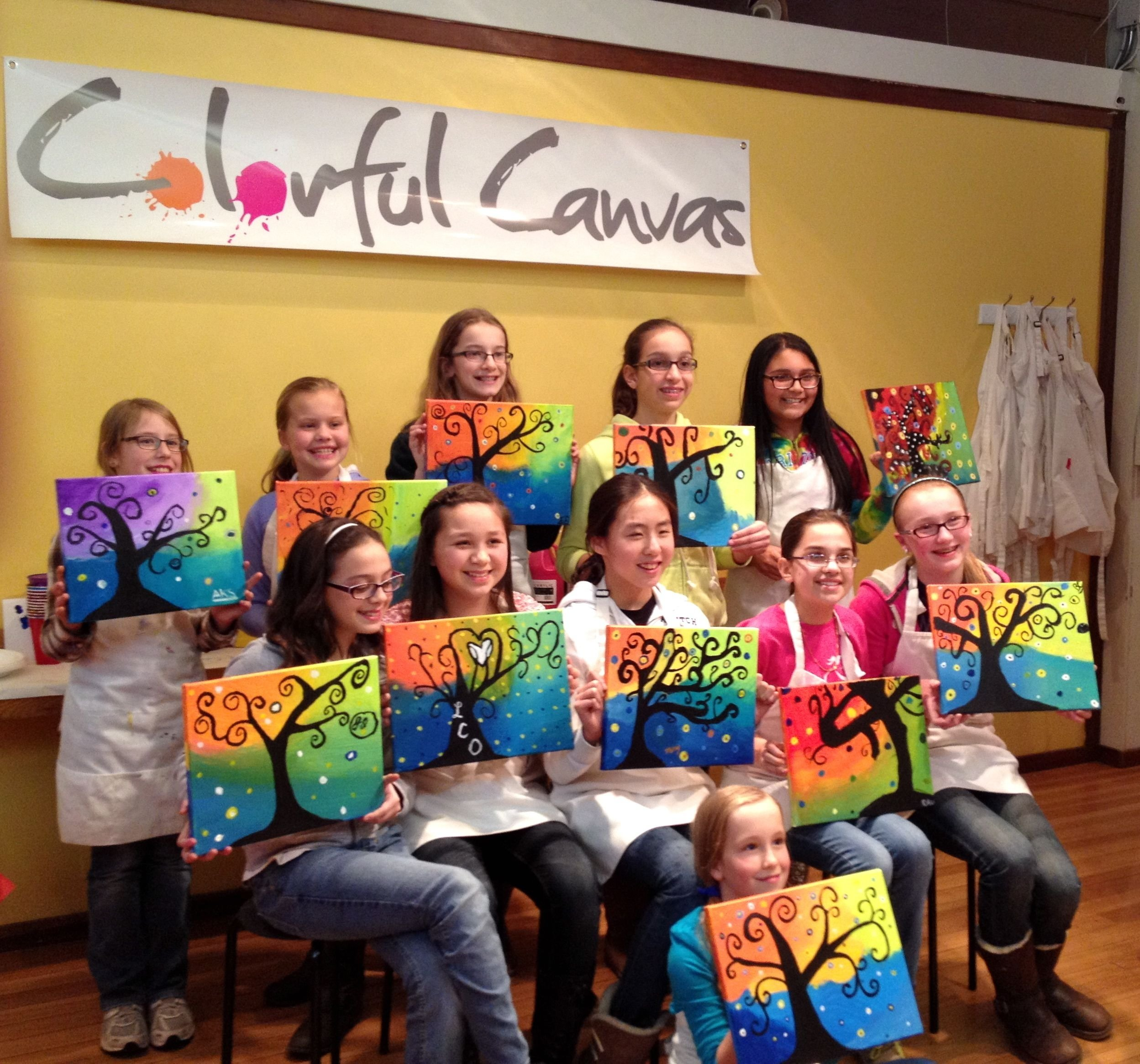 10 Fabulous Ideas For 12 Year Old Birthday Party 12 year old girls enjoyed this swirly tree painting for a friday 6