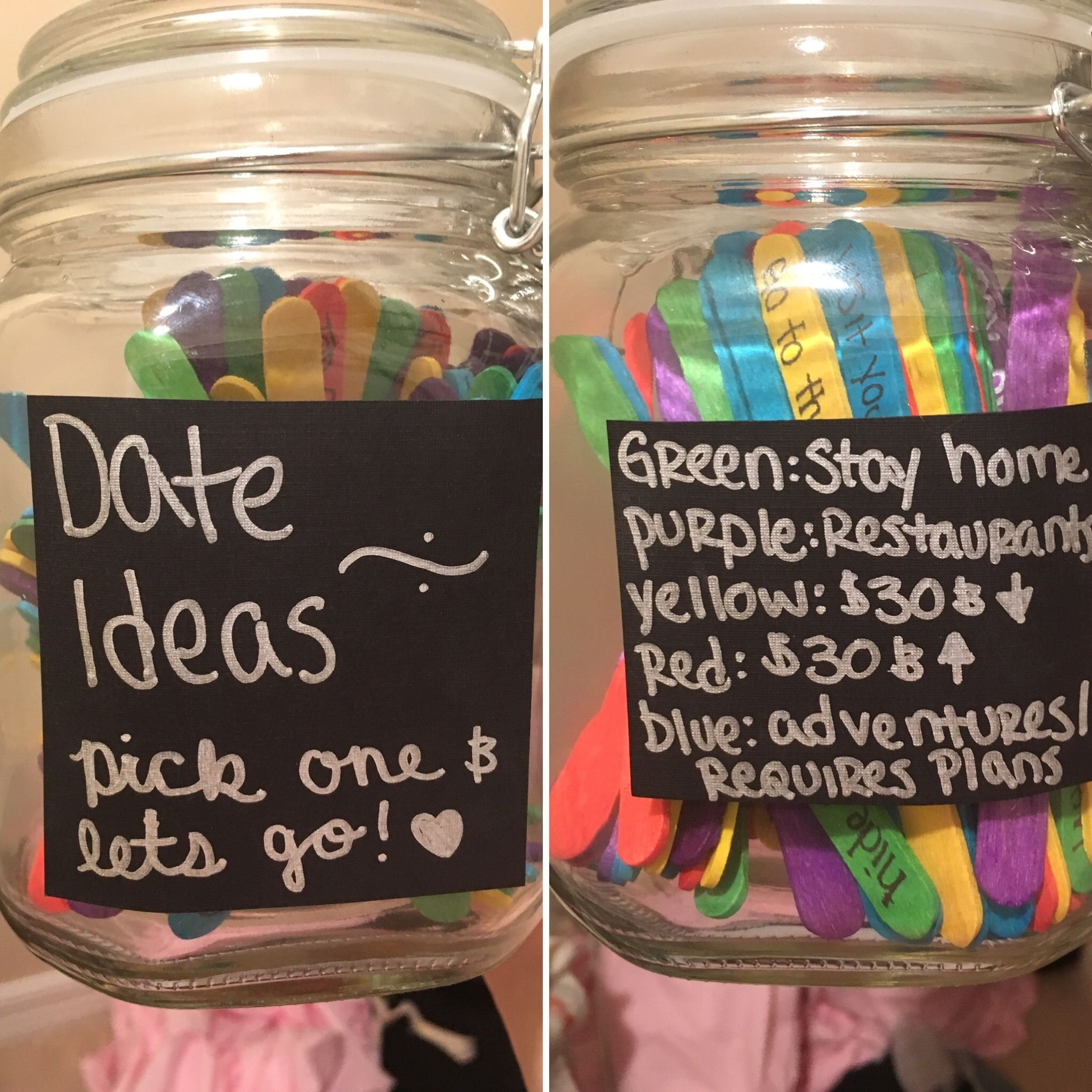 10 Best Birthday Date Ideas For Him 125 colored popsicle sticks 5 mason jar 4 100 date ideas 1 2020
