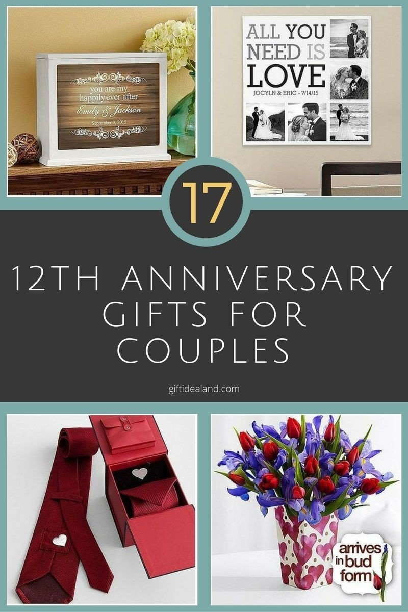 10 Elegant Good Ideas For Anniversary Gifts 12th wedding anniversary gift ideas awesome 35 good 12th wedding 2020
