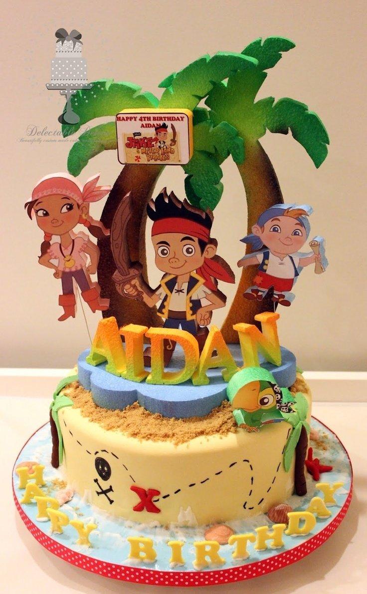 10 Nice Jake And The Neverland Pirate Cake Ideas 13 baby first birthday cakes jake and the neverland pirates photo 1 2020