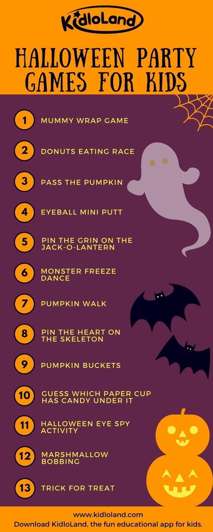 13 fun halloween party games for kids | halloween ideas, halloween