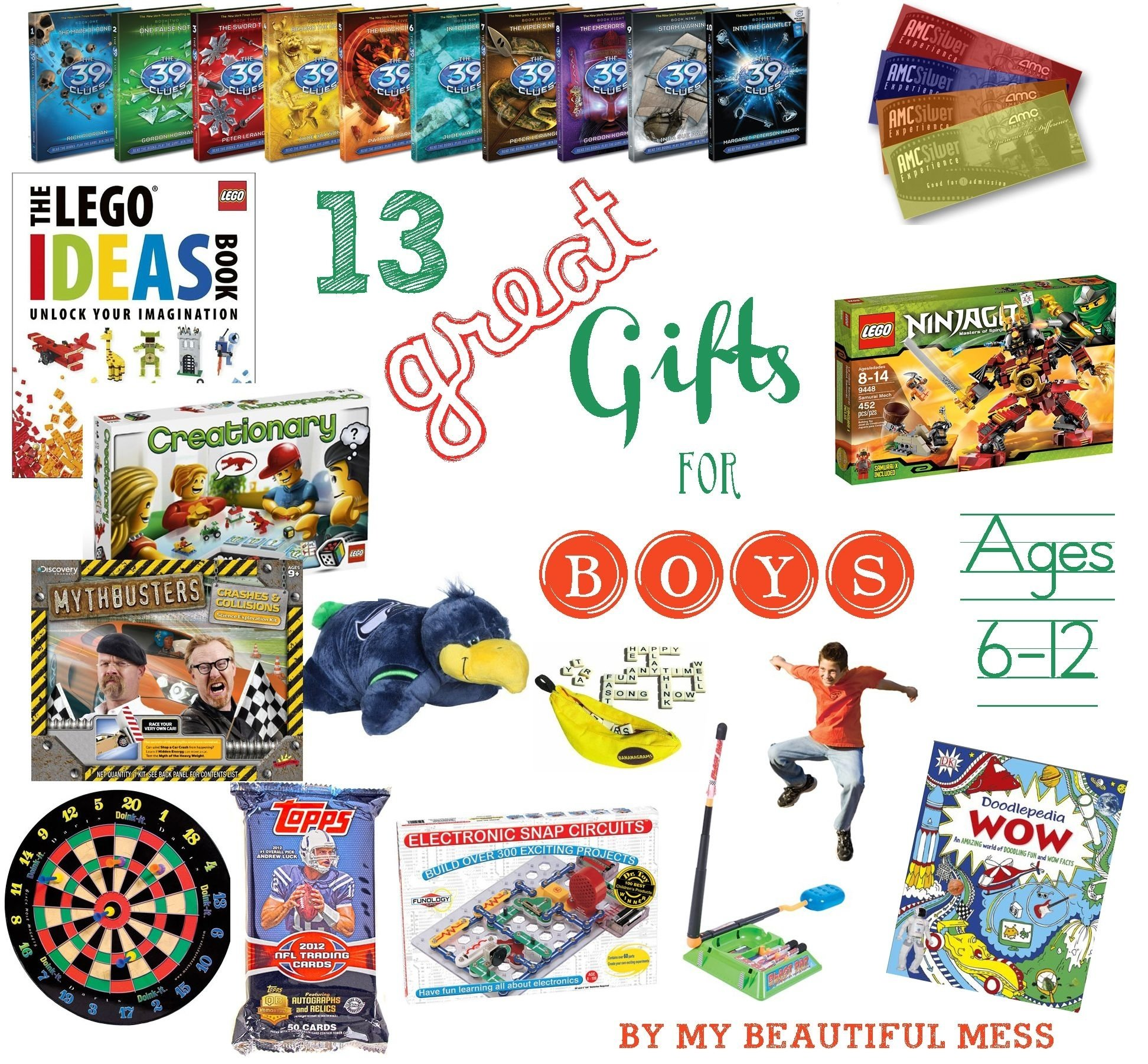 13 great gift ideas for grade school aged boys {ages 6-12