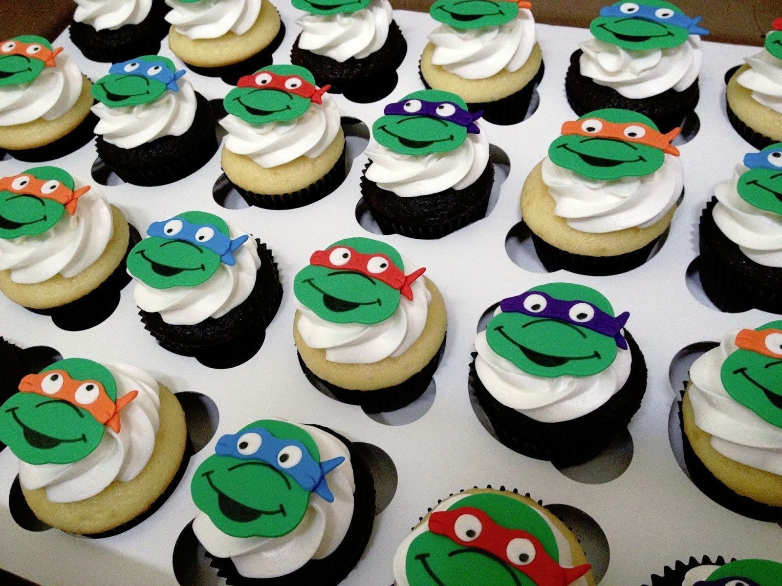 10 Attractive Teenage Mutant Ninja Turtles Cupcake Ideas 13 mutant ninja turtles cupcakes photo teenage mutant ninja turtle