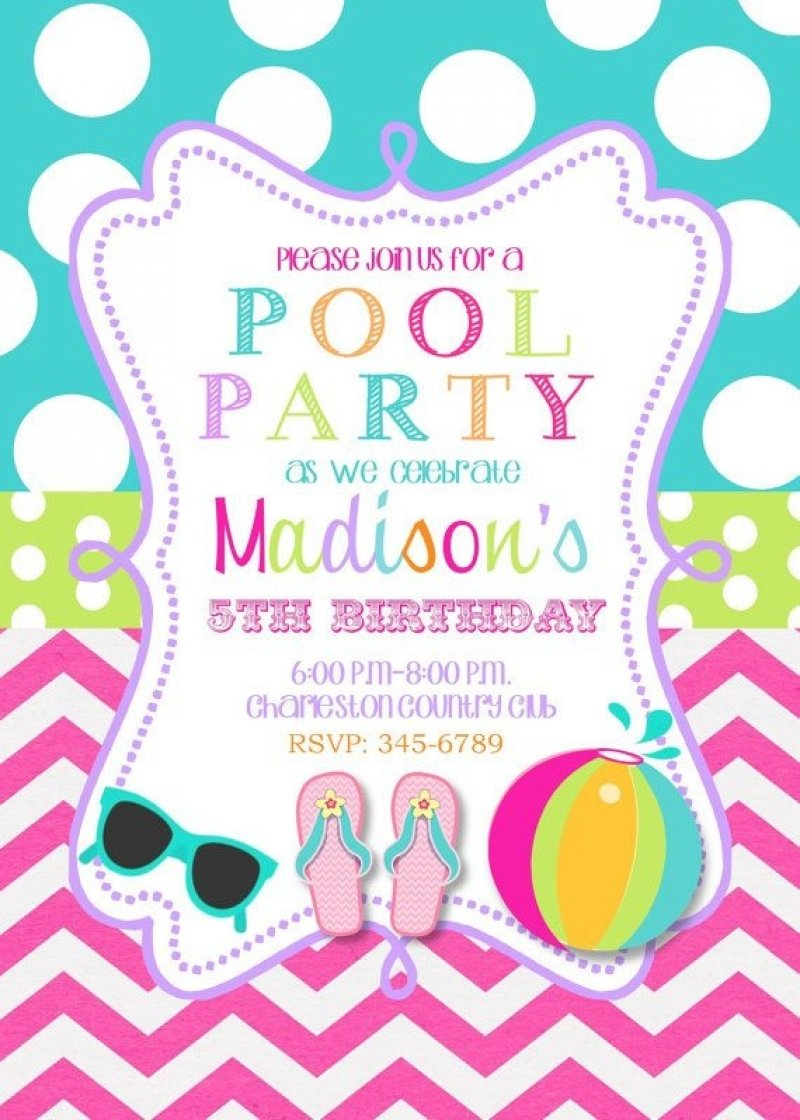 10 Pretty Pool Party Ideas For 13 Year Olds