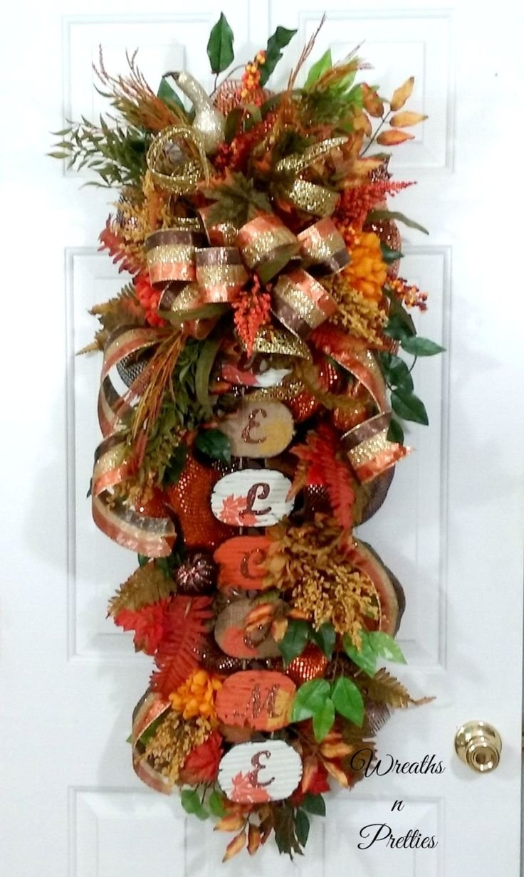10 Attractive Deco Mesh Fall Wreath Ideas 1348 best wreaths bows decorating ideas images on pinterest