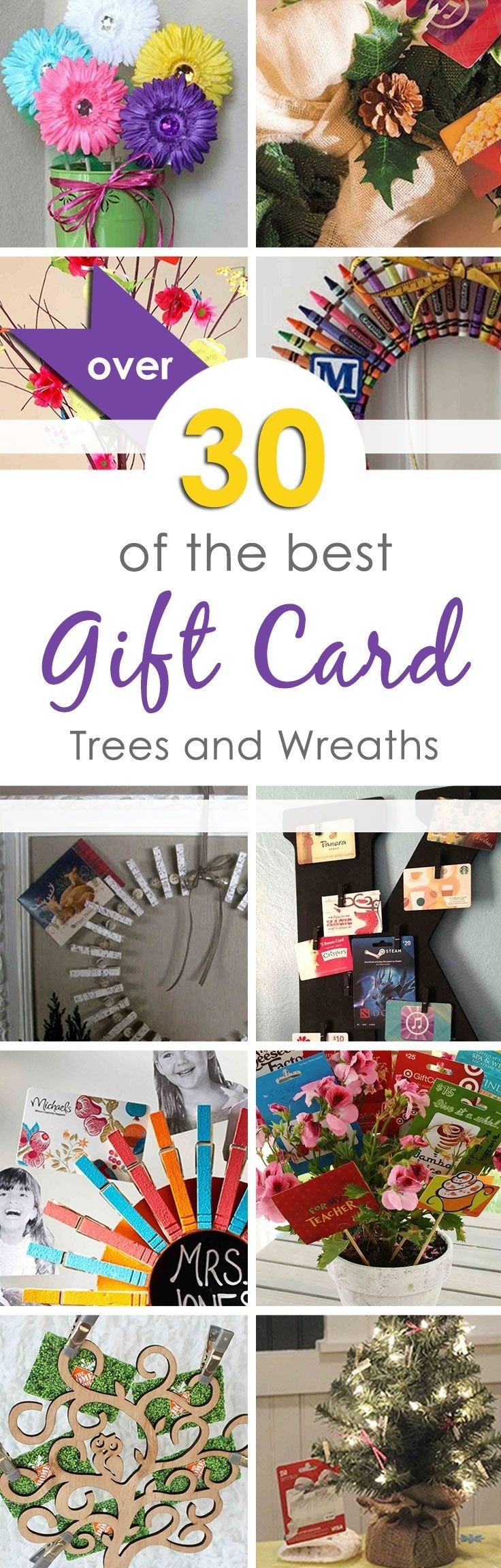 10 Stunning Ideas For Giving Gift Cards 139 best gift card trees and gift card wreaths images on pinterest 2020