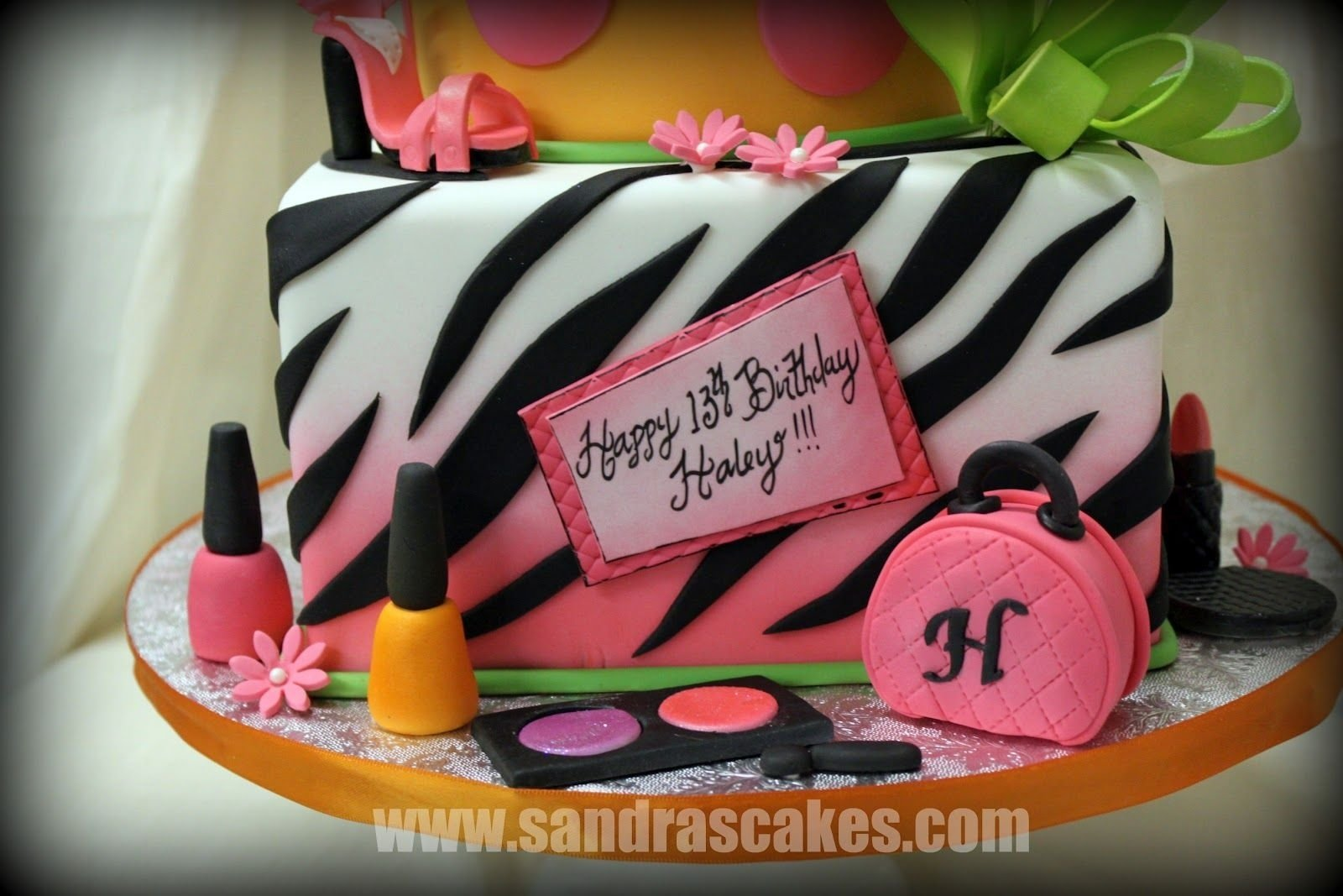10 Awesome 13Th Birthday Ideas For Girls 13th Cake Sandras Cakes Fun