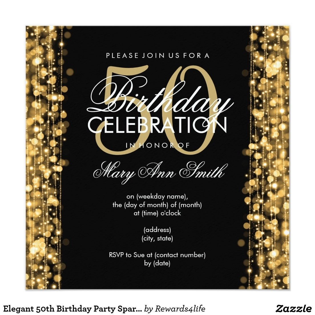 10 Best 50Th Birthday Party Invitations Ideas 14 50 birthday invitations designs free sample templates 2020