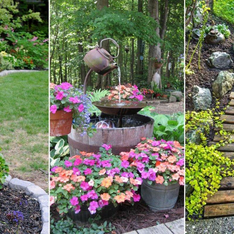 Creative Cheap Garden Ideas: 10 Trendy Cheap Landscaping Ideas For Backyard 2019