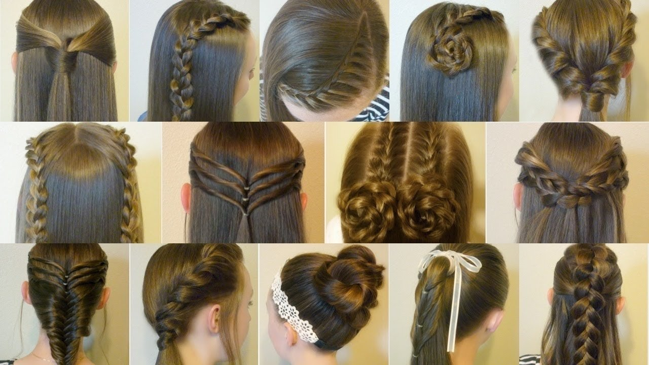 14 easy hairstyles for school compilation! 2 weeks of heatless hair