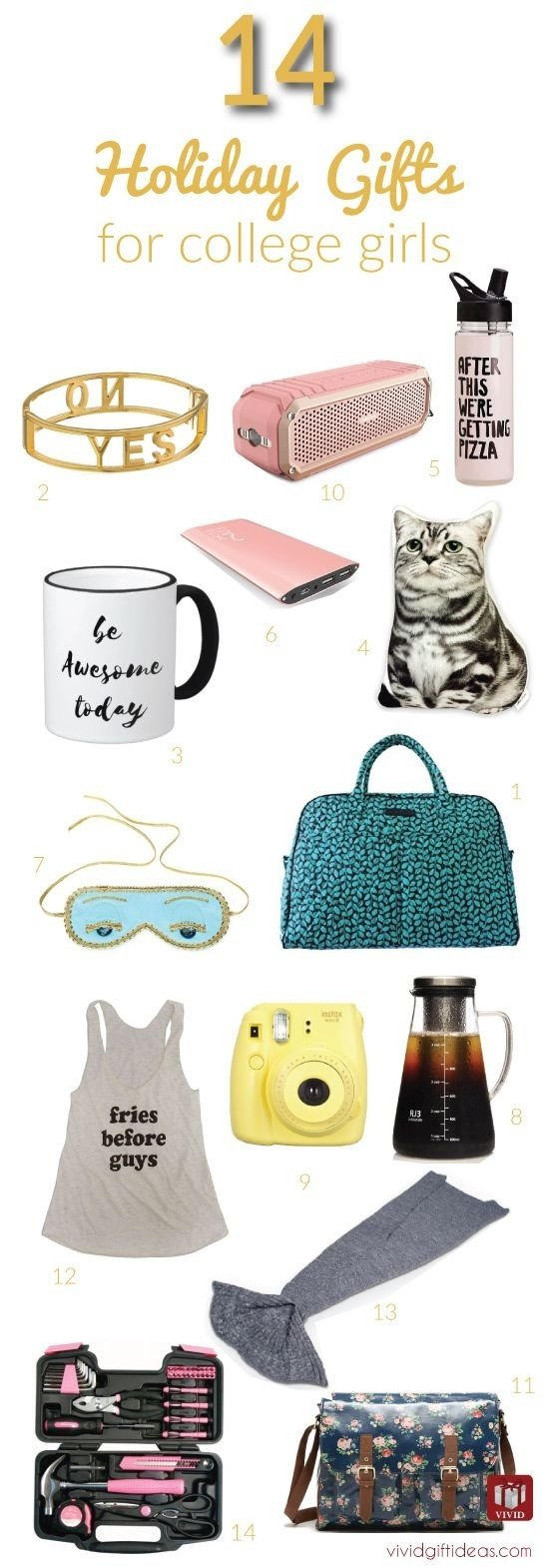 10 Attractive Gift Ideas For College Students 14 great christmas gift ideas for college girls college girls 8 2020