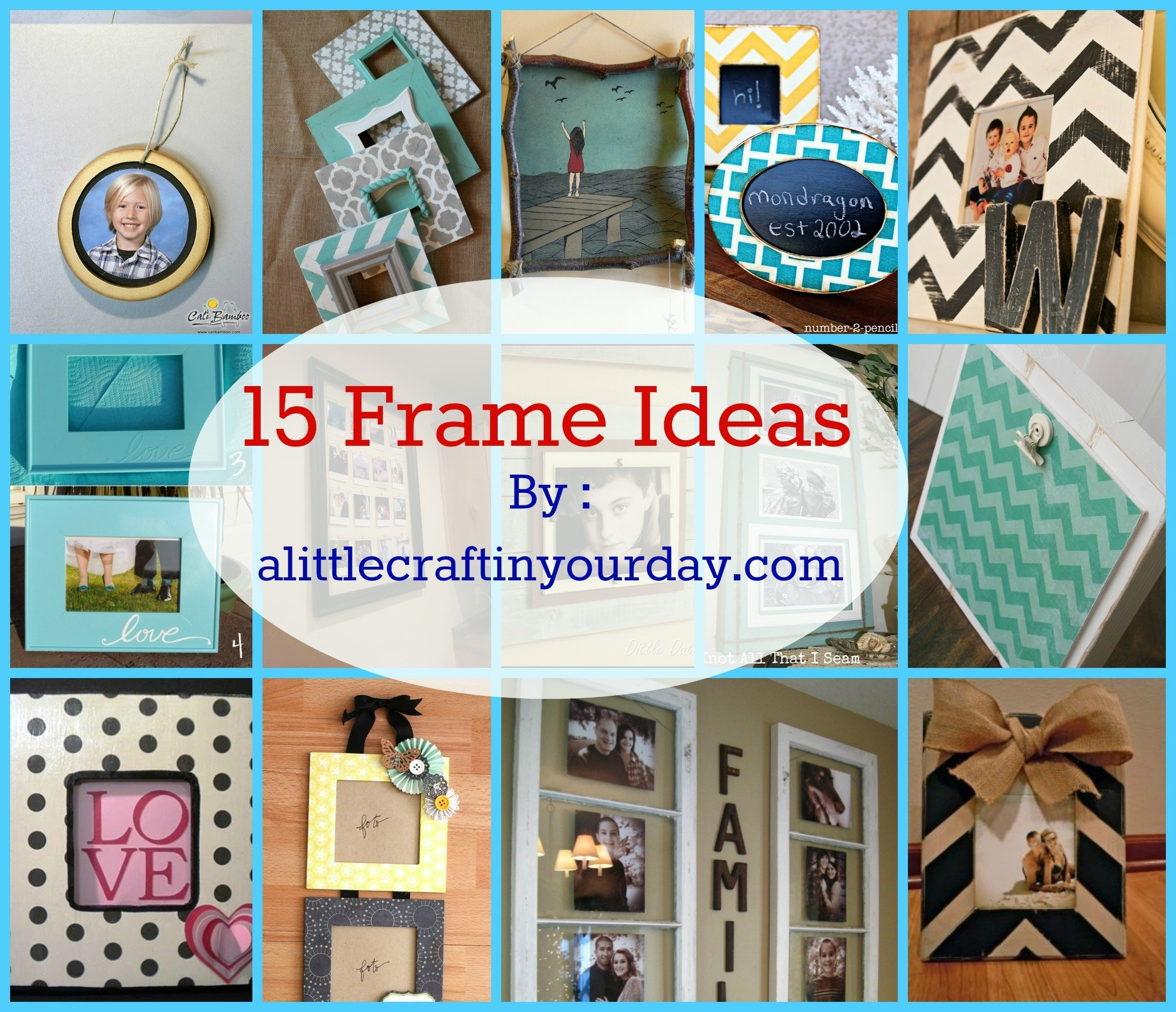 10 Famous Craft Ideas For Picture Frames 14 photo frame ideas a little craft in your day 2020