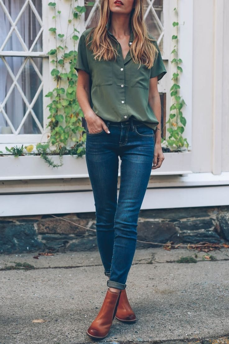 10 Cute Cute Outfit Ideas With Jeans 14 stylish ways to wear ankle boots in casual spring outfits 2020