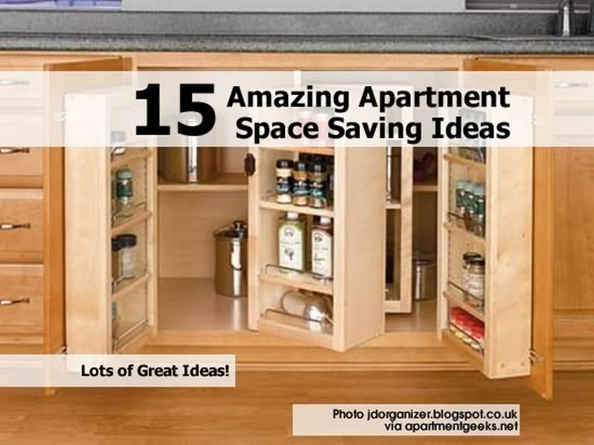 10 Most Popular Space Saving Ideas For Small Apartments 15 amazing apartment space saving ideas 1 2020