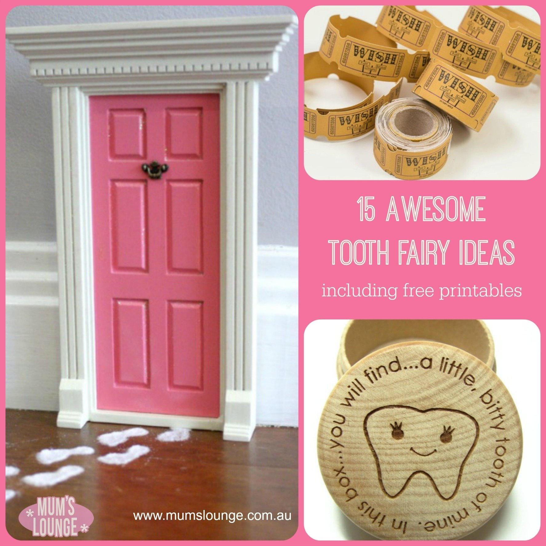 10 Elegant Tooth Fairy Ideas For First Tooth 15 awesome tooth fairy ideas free printables mums lounge 2020