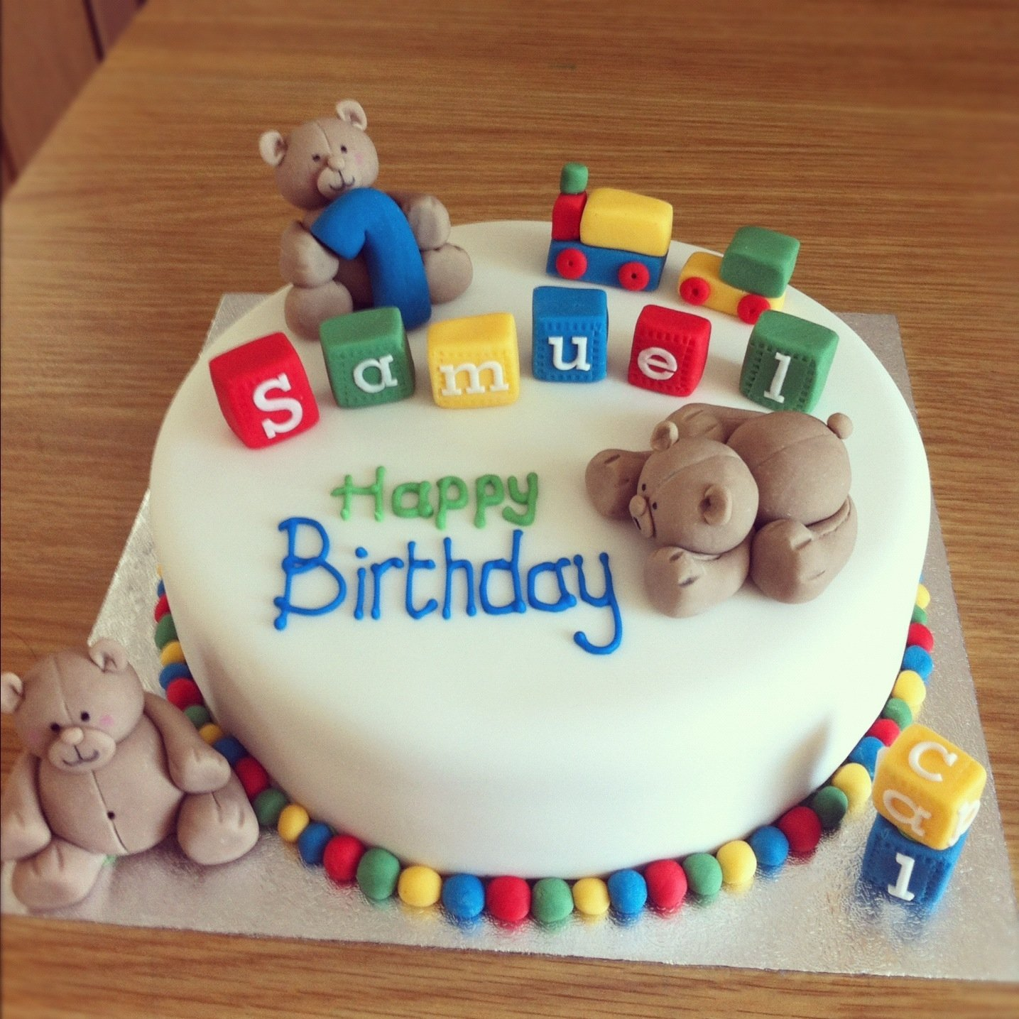 10 Cute Baby Boy First Birthday Cake Ideas 15 1