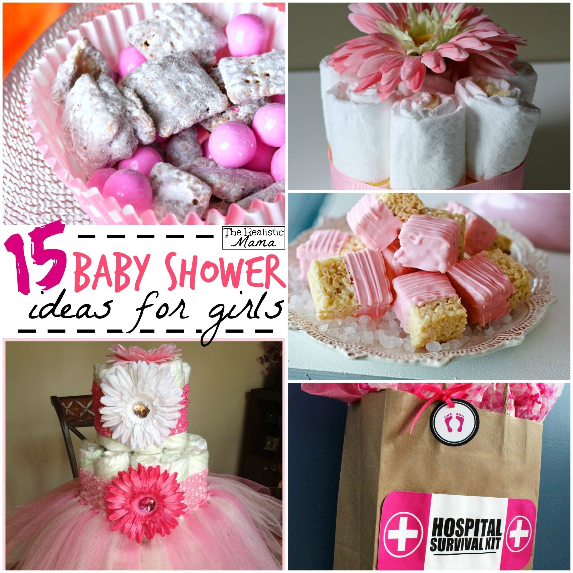 10 Pretty Ideas For A Baby Shower 15 baby shower ideas for girls the realistic mama