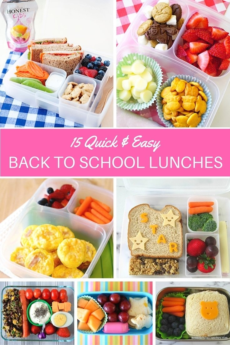 10 Unique Quick And Easy Lunch Ideas 15 back to school lunch ideas quick easy lunches with foods my 2020