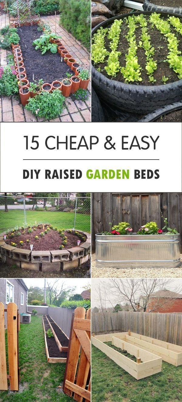 15 cheap & easy diy raised garden beds | raising, backyard and gardens
