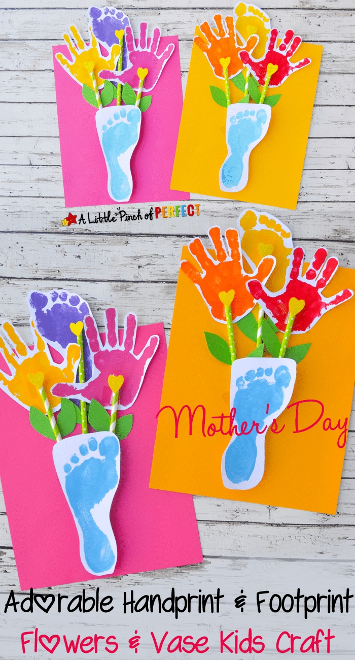 10 Awesome Cute Mothers Day Craft Ideas 15 cute mothers day crafts for kids footprints gift and crafts 2020