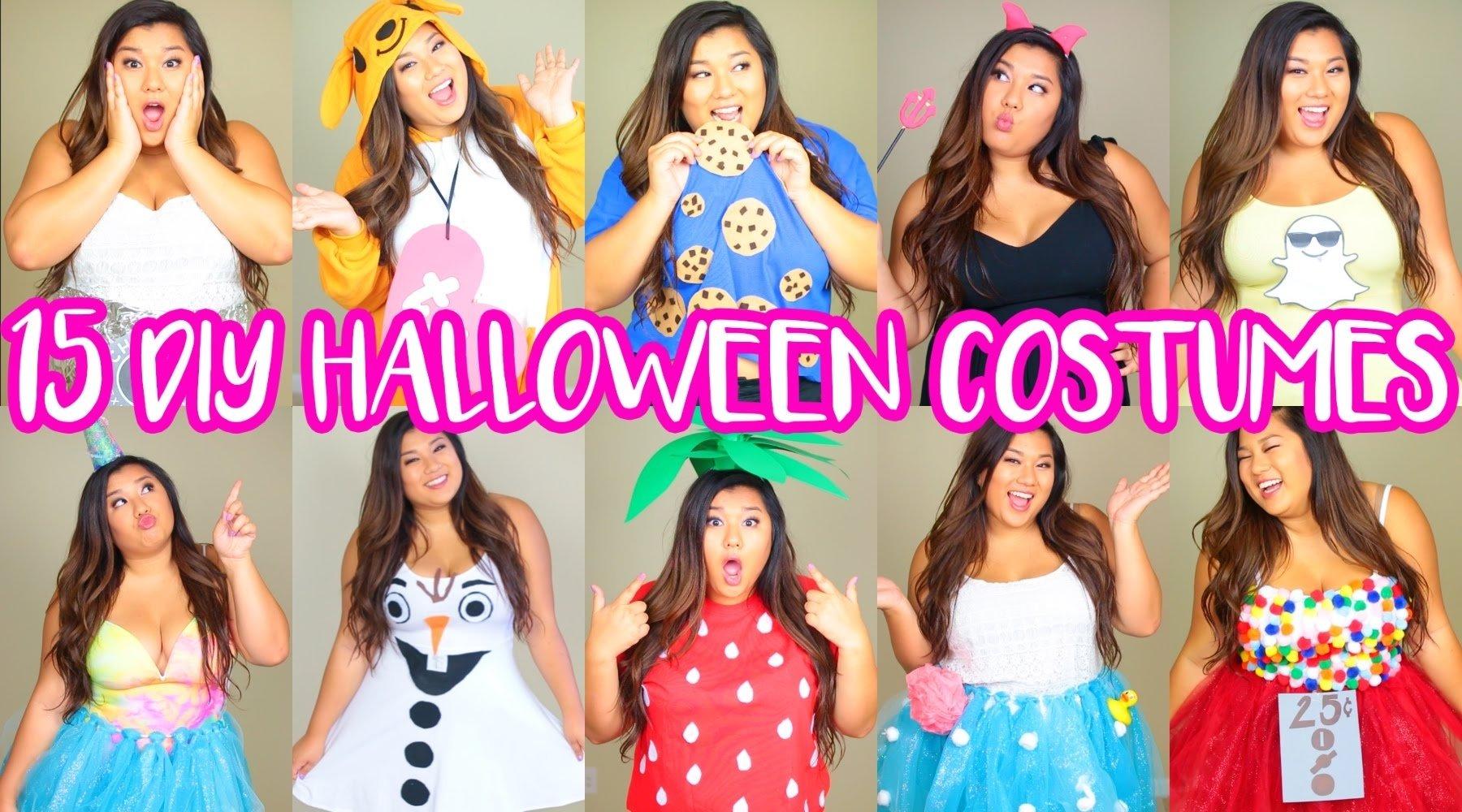 15 diy halloween costumes! last minute, cute & easy! - youtube