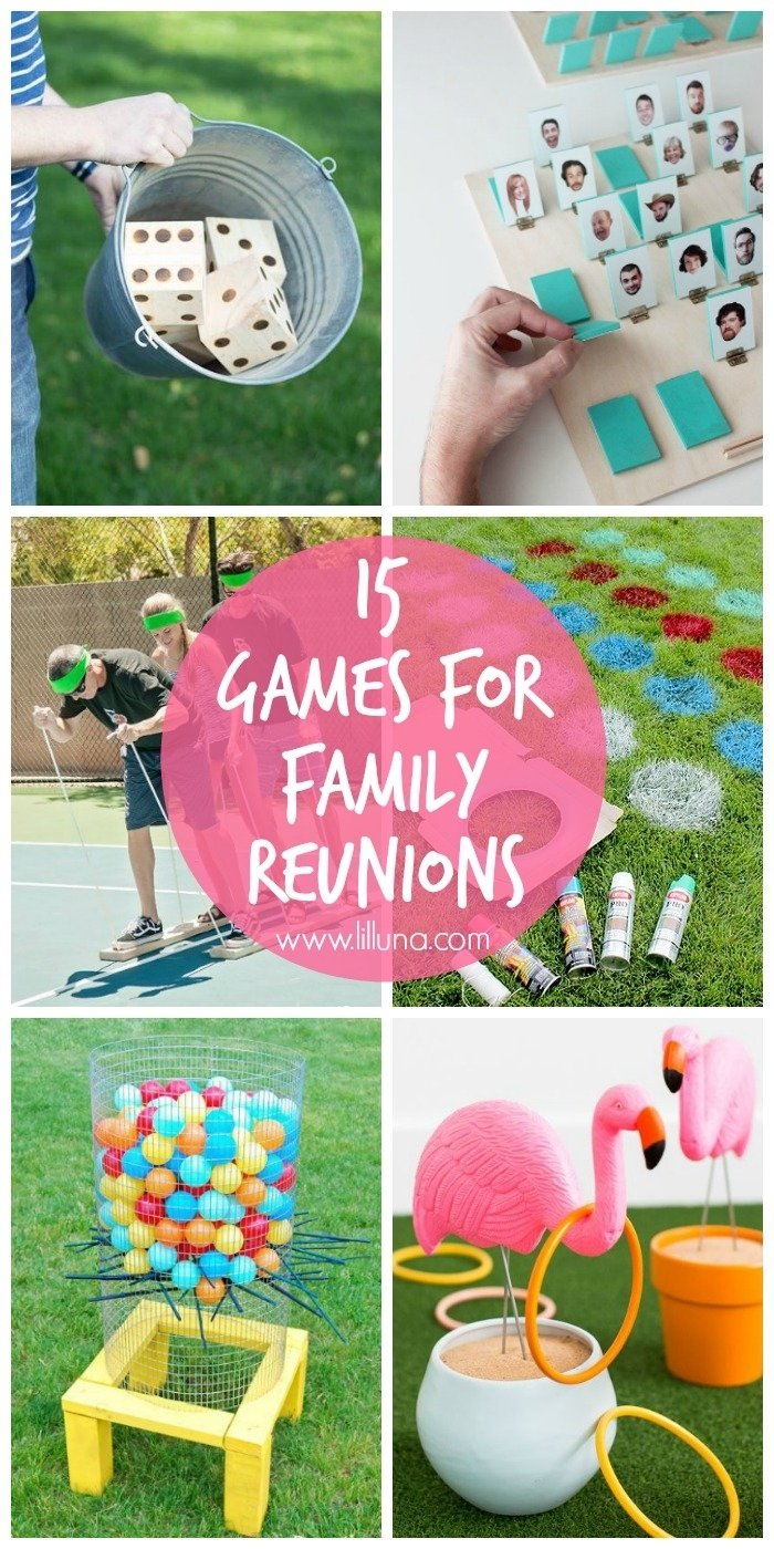 15 family reunion game ideas - lil' luna