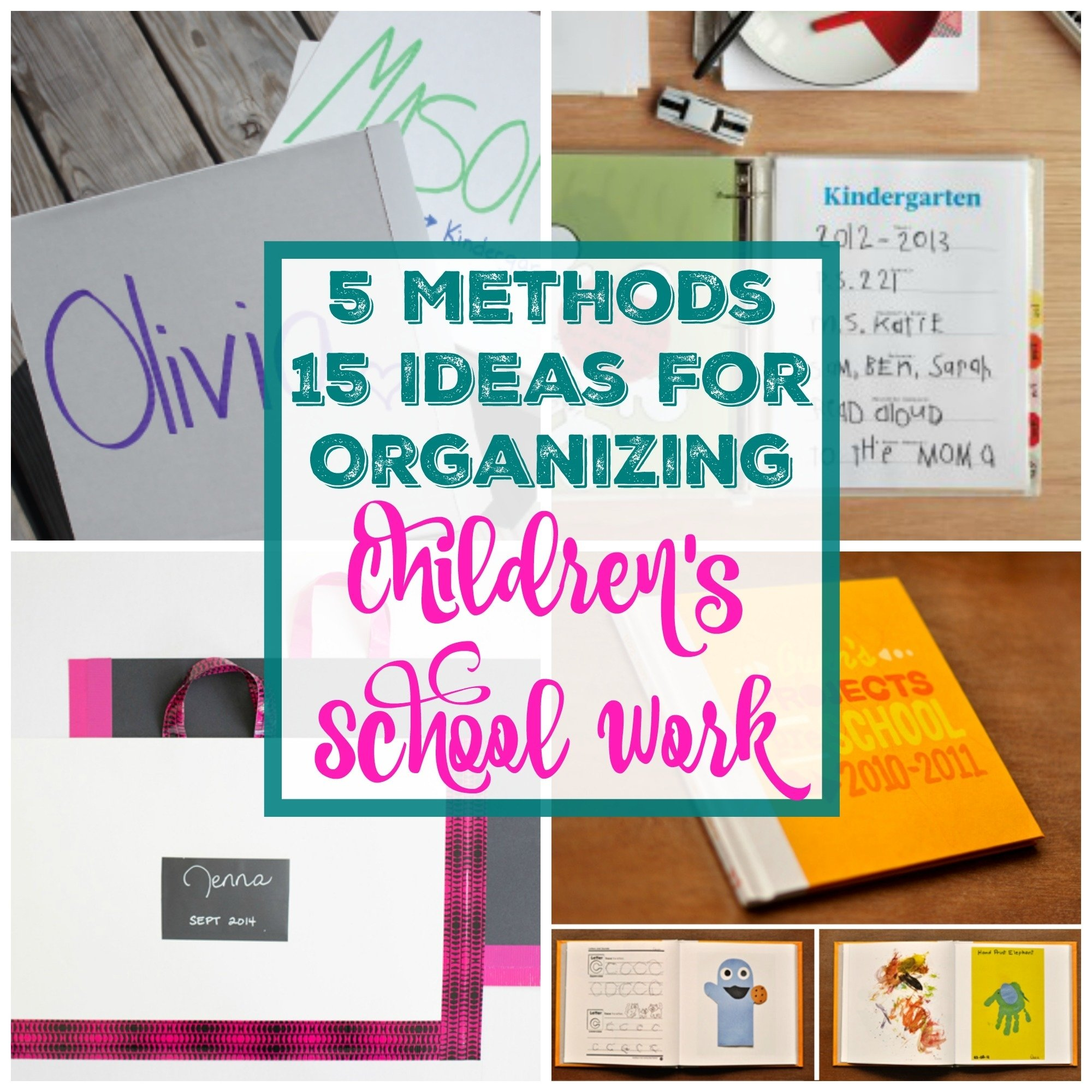 10 Cute How To Ideas For Kids 15 fantastic ideas for organizing and storing childrens school work 2020
