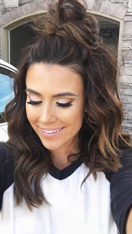 10 Fantastic Cute Hair Ideas For Medium Hair 15 hairstyle ideas to inspire your half buns hair style makeup 2 2020
