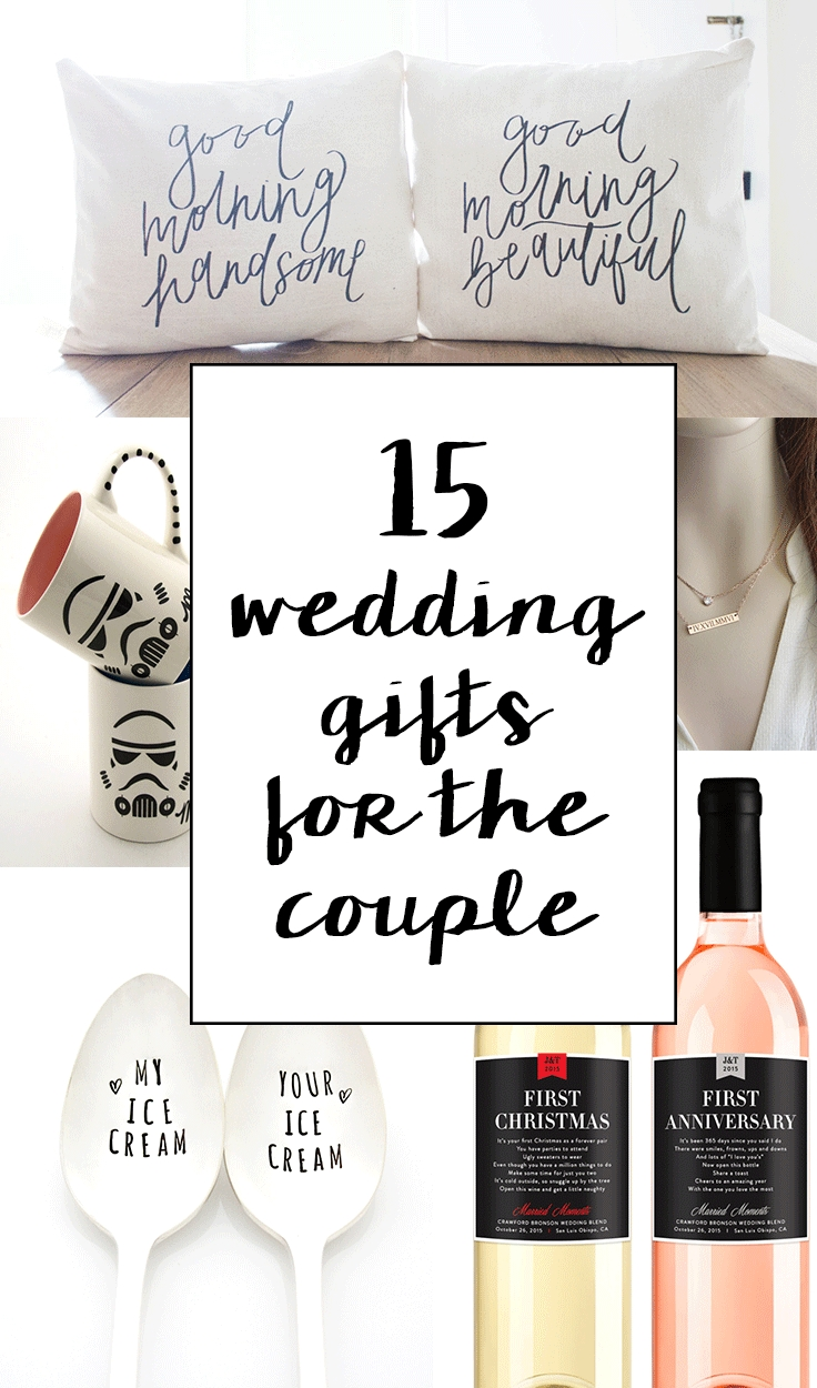 15 sentimental wedding gifts for the couple | creative wedding gifts